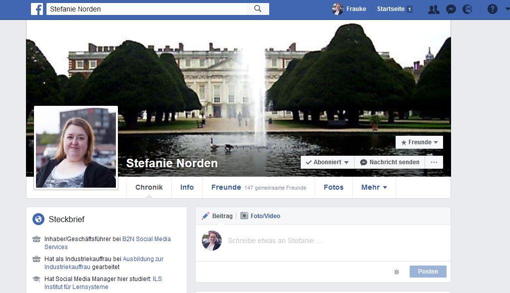 Facebook für Unternehmen_Profil