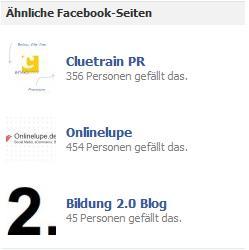 Ähnliche Facebook-Seiten