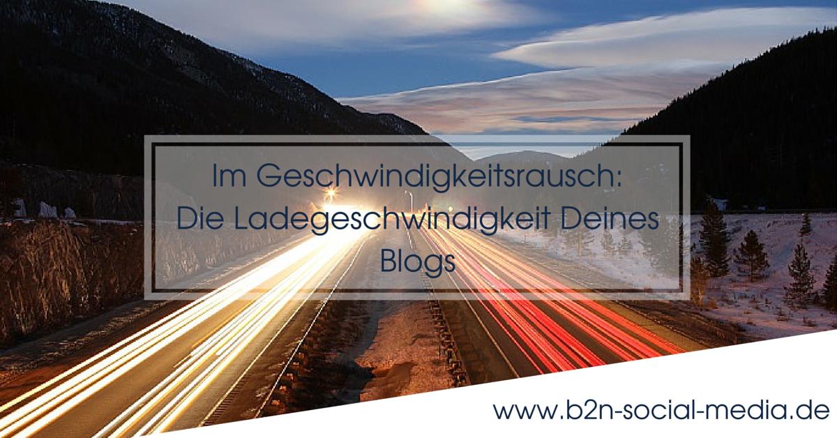 Blog Ladegeschwindigkeit