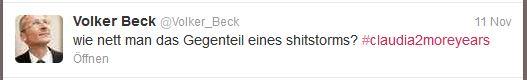Volker Beck - Gegenteil Shitstorm