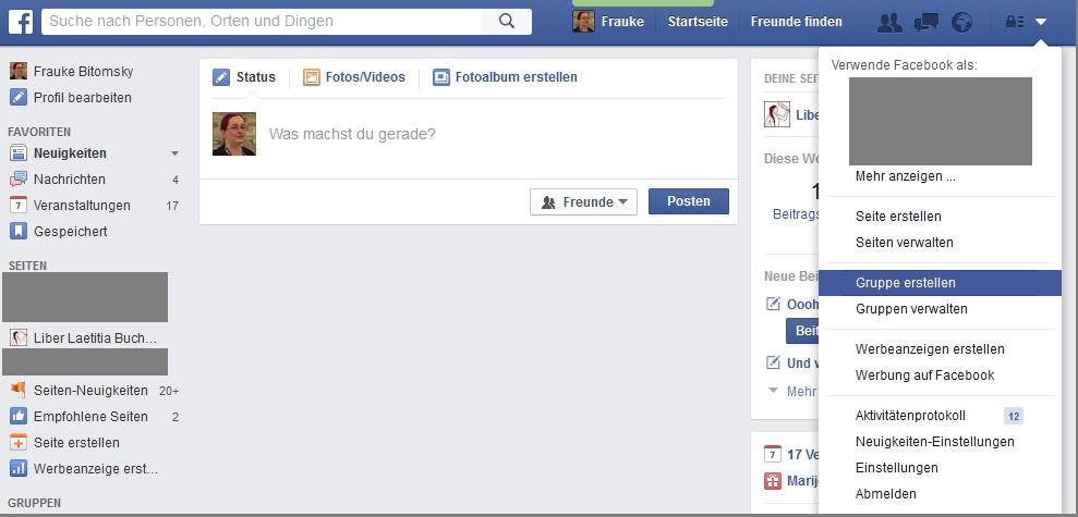 Facebook-Gruppen erstellen