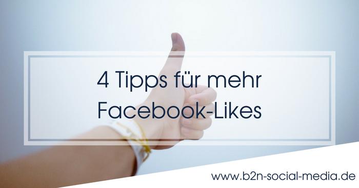 4 Tipps für mehr Facebook-Likes