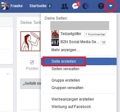 Facebook-Seite erstellen 01