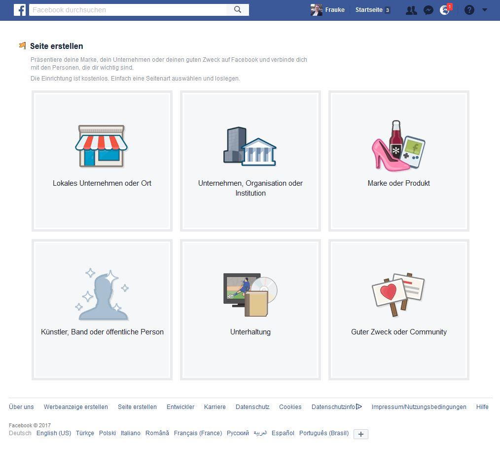 Facebook-Seite erstellen 02