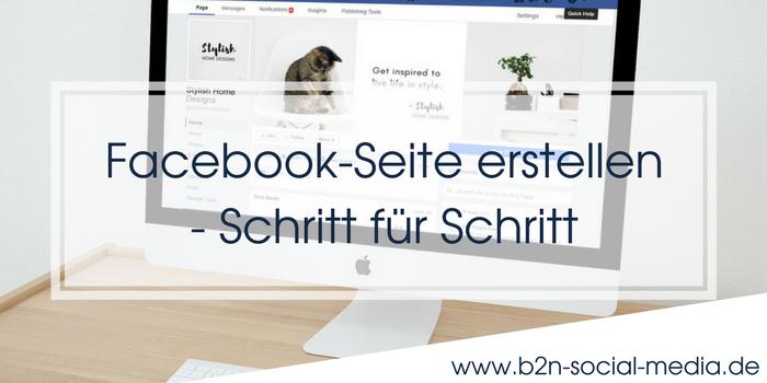 Facebook-Seite erstellen – Schritt für Schritt