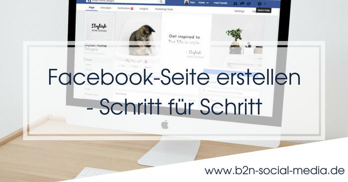 Facebook-Seite erstellen - Schritt für Schritt