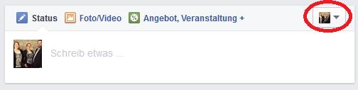 Facebook als Seite verwenden 03