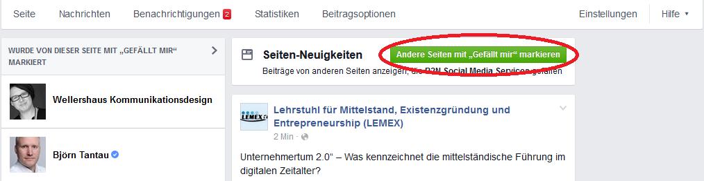 Facebook als Seite verwenden 04