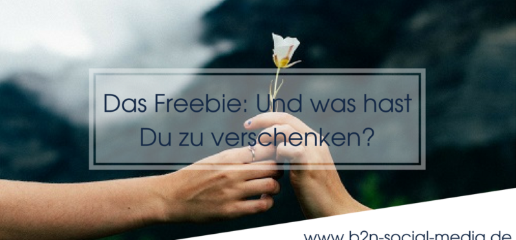 Das Freebie: Und was hast Du zu verschenken?