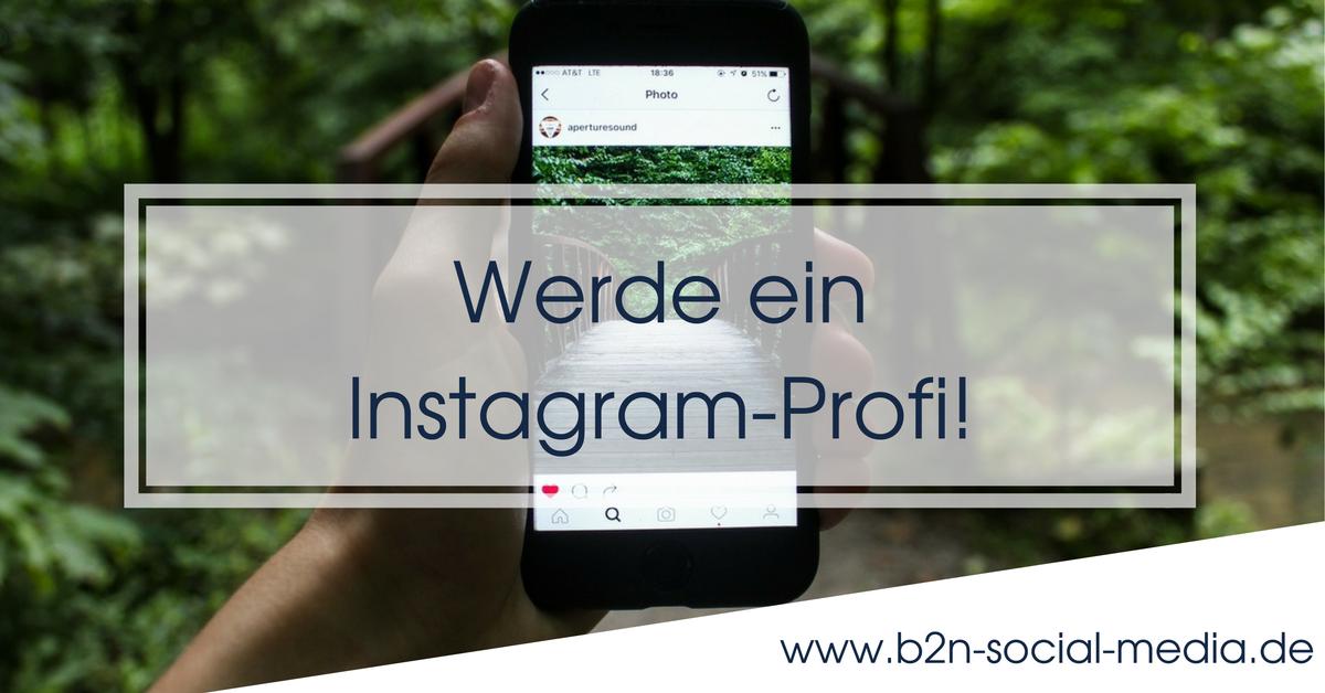 Werde ein Instagram-Profi!