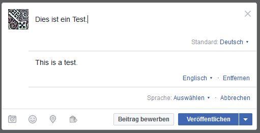 Mehrsprachig auf Facebook 04