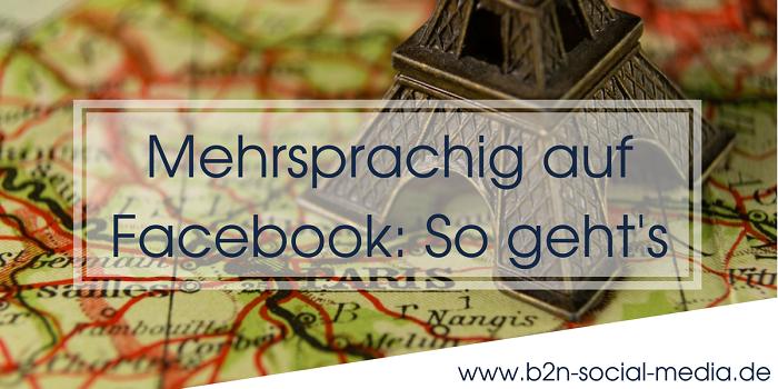 Mehrsprachig auf Facebook: So geht's