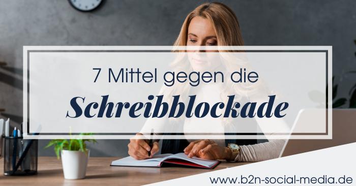 7 Mittel gegen die Schreibblockade