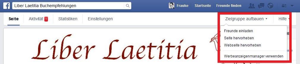 Facebook-Werbeanezige über die Fanseite erstellen