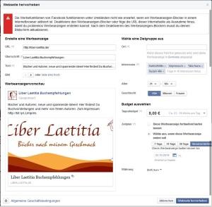 Facebook-Werbeanzeige zum Webseite hervorheben