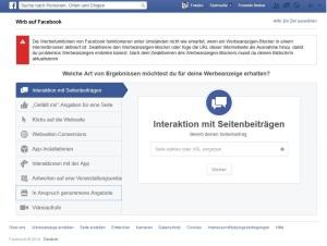 Facebook-Werbeanzeige: Das Ads Create Tool