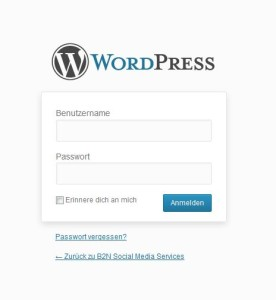 Wordpress einloggen